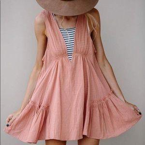 Apricot gauze swing dress